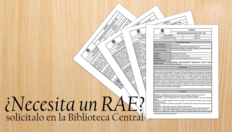 Imagen del formato RAE